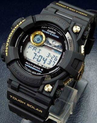 100% Authentic new rare Japan JDM Casio G-Shock Black Gold Frogman GWF-10001JR MB6 Watch limited edition