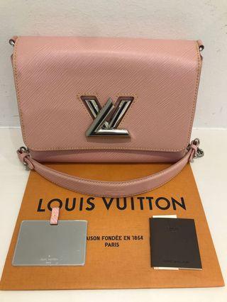 LV Epi Twist MM Pink Leather Handbag