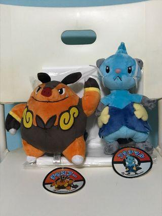 Pokemon Center 2010 pignite and dewott plush
