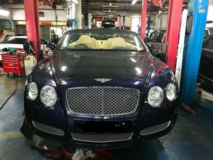Luxury car maintenance