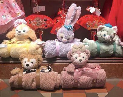 香港迪士尼樂園6折代購 disney Duffy Shelliemay gelatoni cooki Stella Lou 毛毯