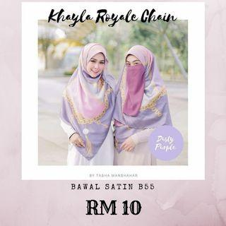 Bawal Satin Free with any Tudung Purchase