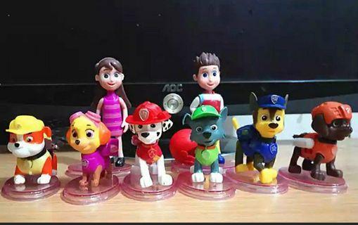 🚚 Brand new paw patrol cake topper toys