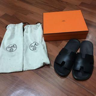 Hermes sandals for men size 8 black