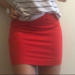Basic red bodycon mini skirt #CarousellxCasetify
