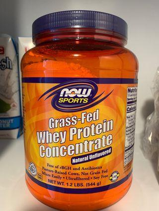Now Sports Grass Fed Whey Protein Concentrate 544g