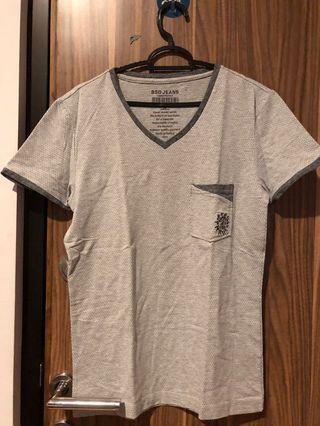 tshirt grey abu abu dot