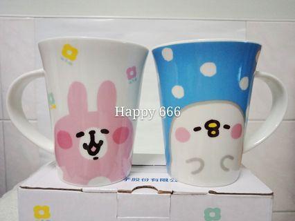 🚚 卡娜赫拉馬克杯2入組 約350ml 可愛小動物馬克杯 UMC聯電 卡娜賀拉 陶瓷杯 水杯 咖啡杯 茶杯