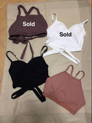 Sports bras and Bra tops with pads (Forever 21 and 6ixty8ight)