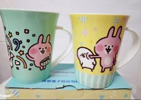 卡娜赫拉馬克杯2入組 約350ml 可愛小動物馬克杯 UMC聯電 卡娜賀拉 陶瓷杯 水杯 咖啡杯 茶杯