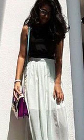 Pastel green sheer maxi skirt #CarousellxCasetify
