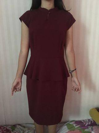 #maudandan Dress maroon Executive