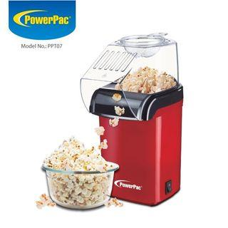 PowerPac Electric Hot Air Popcorn Maker with Transparent Housing