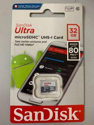 #CarousellxCasetify SanDisk Ultra micro SD 32GB