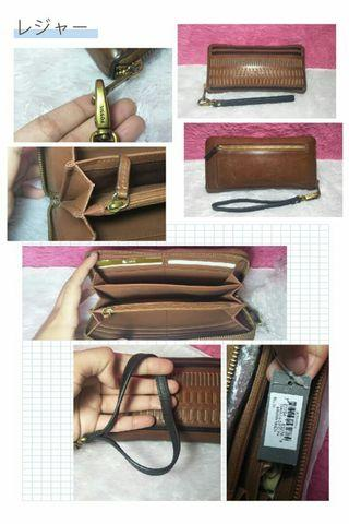Dompet fossil kendal anyam