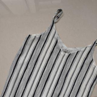 Striped Camisole Top with Modesty Layer
