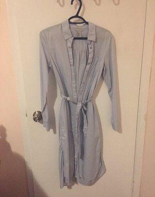 H&M Blue Midi Dress