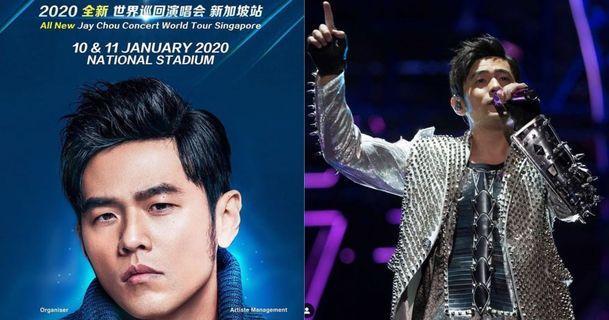 Jay Chou concert world tour singapore 2 tickets