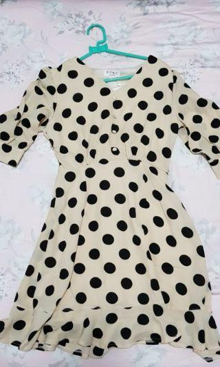 Dress Polkadot Cream