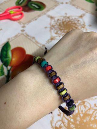 彩色木珠手繩 手鍊