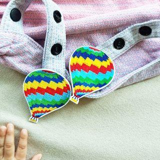🚚 Rainbow Hot Air Balloon Charm for Tula Snap Hoods