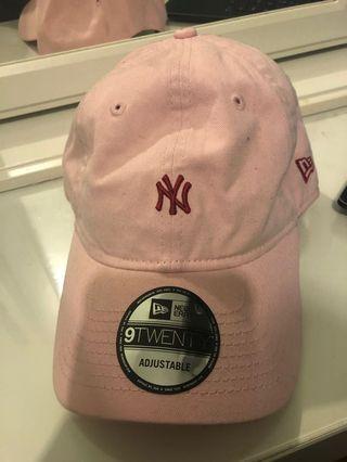 New York pink cap