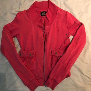 🚚 Roots 紅色小口袋棉質外套