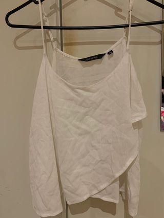 White Glassons singlet top size 6-8