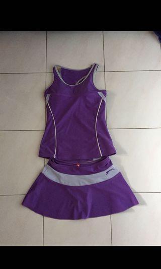 Slazenger purple swimsuit set