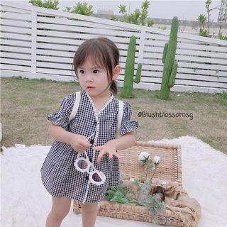 ⭐INSTOCK⭐ Hera Puffy Sleeve Checkered Dress