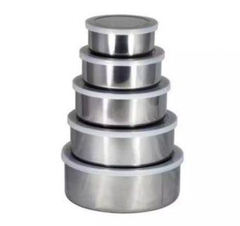 5 in 1 Stainless Steel Container Free Kitchen Towel