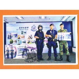香港警察175周年紀念《2019郵展暨香江風華舊物展》極限明信片(C款) - 蓋特別印