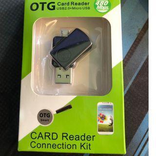 🚚 Micro手機電腦小旋轉otg讀卡器 usb2.0讀卡器 V8 otg讀卡器多合一