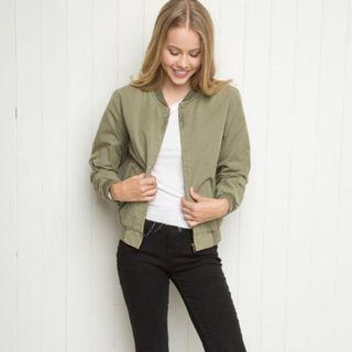 Army Green Bomber Jacket M