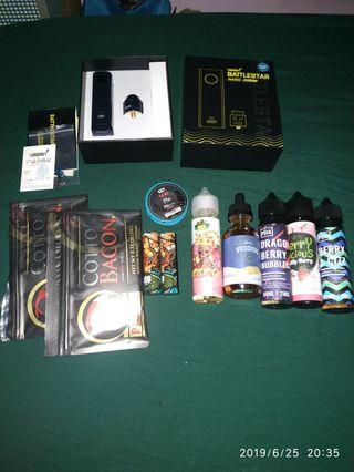 Vape smoant battlestar nano RDA kit (authentic) ,paket komplit authentic