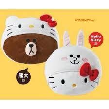 711 line 熊大 hello kitty 聯名抱枕 娃娃 靠枕