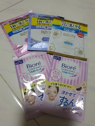 5 pcs Cleansing sheet for travelling