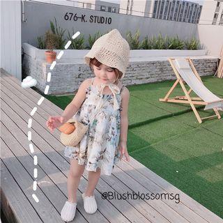 ⭐INSTOCK⭐ Spaghetti Sweet Flora Dress