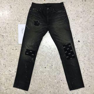 Wtaps No.5 Black Cross Bones Denim Jeans