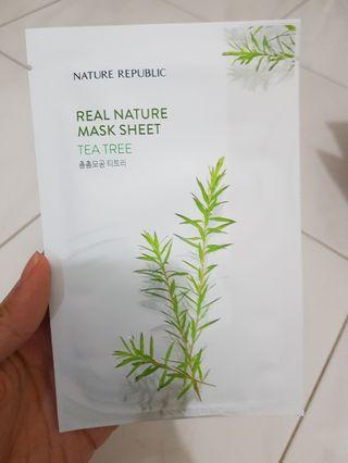 Nature Republic Sheet Mask Tea Tree