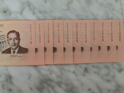 🚚 SG BICENTENNIAL COMMEMORATIVE $20 COMMEMORATIVE NOTE LUCKY