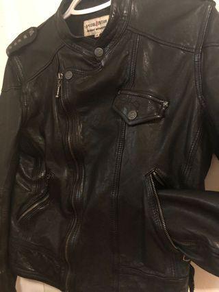 Levi's Black Leather Jacket
