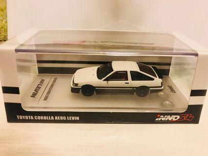 INNO64 TOYOTA COROLLA Levin AE86 White