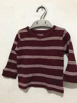 Sweater maroon stripes