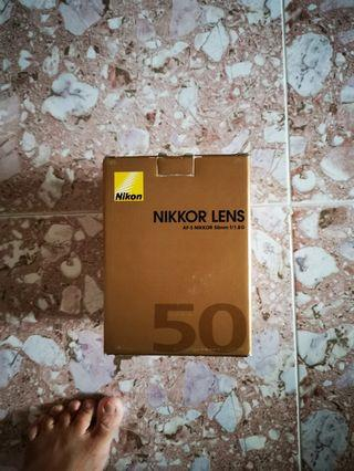Nikon lens 50mm f1. 8g