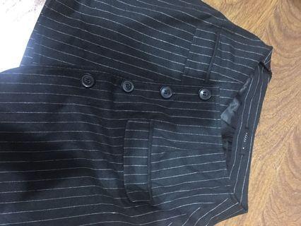 Pazzo條紋鈕扣短裙