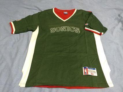 Champion Nba Seattle Supersonic Shooting Logo Shirt