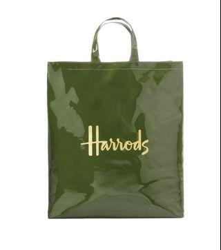 Authentic Harrods Signature Logo Large Shopper Bag