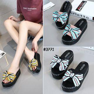 Wedges Slip On Ribbon Korea #3771
