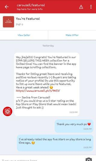 Thank you Carousell! Will be posting preloved items soon ❤
